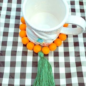 🐣Farmhouse Easter Orange Wood Beads garland🐣